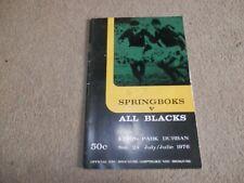 South Africa New Zealand 1st Test 1976 All Blacks Tour Springboks Programme