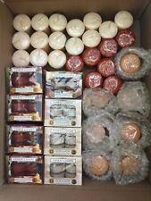 Box of Yankee Candle Votive Tealights + Votive Holders