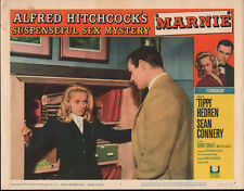 MARNIE orig 1964 lobby card poster TIPPI HEDREN/SEAN CONNERY/ALFRED HITCHCOCK