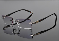 Luxury rimless Eyeglass frames Cutting lenses RX-able Diomand Glasses Eyewear