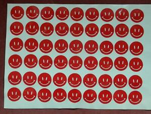 54 Smiley Face Stickers, lots of colours avaliable, ideal for decoration