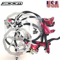 ZOOM MTB Bike Hydraulic Disc Brakes Calipers Cycling 160/180mm Disc Brake Rotor
