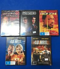 Five DVDS. Drop Zone, Presido, Internal Affairs 48 Hrs Another 48 Hrs. All NEW.