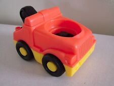 Fisher Price Little People Orange Garage Town Tow truck with Sounds EUC
