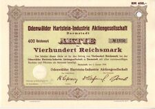 Odenwälder Hartstein Industrie AG  1939 Darmstadt