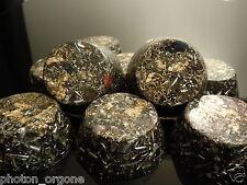 5  x Orgonite 23k Gold Towerbusters Orgone Orgones Iron Oxide Shungite Orgonites