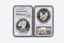 1992 S AMERICAN SILVER EAGLE 1oz NGC PF69 ULTRA CAMEO