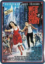 West Side Story Film Nostalgie Blechschild Postkarte Reklame Blechkarte PKM 129