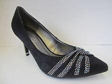 Mujer Negro Antelina Spot On Zapatos de Diamante Tamaños Reino Unido 3-8: F9748