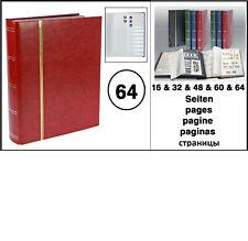LOOK Rot Briefmarkenalbum Einsteckbuch Einsteckalbum 64 geteilte weisse Seiten