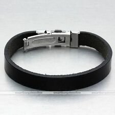 Leather Stainless Steel Unbranded Costume Bracelets