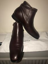 Reiss Keeper Buckle Strap Bordeaux Brown Leather Jodphur Boots - Size 10