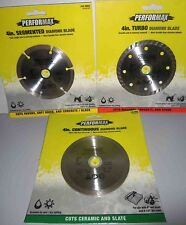 "Set of 3  4"" Diamond Saw Blade Cutting Discs Concrete & Stone For Angle Grinder"