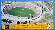 AFL LAST GAME AT WAVERLEY TICKET + FOOTY RECORD + FIXTURE August 1999