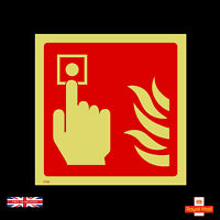 Fire Alarm Call Point  - 100mm x 100mm - Self Adhesive Stickers