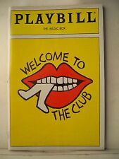 WELCOME TO THE CLUB Playbill CY COLEMAN / JODI BENSON / SCOTT WAARA Flop NY 1989