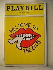 WELCOME TO THE CLUB Playbill CY COLEMAN / JODI BENSON / SCOTT WAARA Flop NY 1989