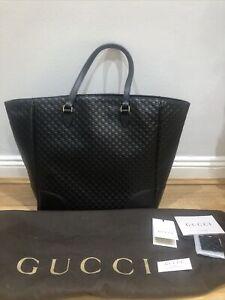 Gucci Brie Guccissima Black Leather Tote Bag