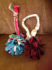 Dog Fleece Braided Tug & Chew Toy & Ball Set ~ 4 Homemade Toys 17j