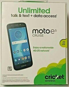 Motorola e5 Cruise 16 GB - Navy 5.2 HD Display Brand New Cricket Wireless