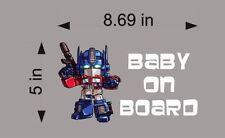 Optimus Prime Baby on Board / Transformers / Vinyl Vehicle Kids Decal Sticker