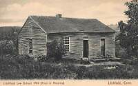 Litchfield Law School 1784, Litchfield, Connecticut, Early Postcard, Unused