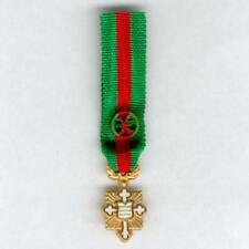 FRANCE. Miniature Cross of French Merit and Dedication, officer