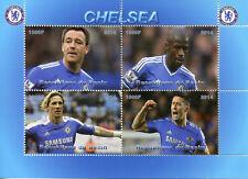 Benin 2014 CTO Chelsea John Terry Fernando Torres 4v M/S Football Soccer Stamps