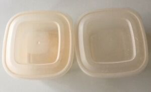 Pack of 2 Clear Plastic Storage Boxes Cubes with lids