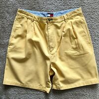 Vintage Tommy Hilfiger Men's Yellow Casual Chino Shorts Men's Size 36