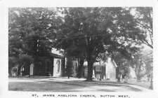 Sutton West Ontario Canada St James Anglican Church Real Photo Postcard J78771