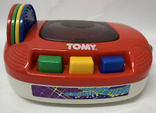 Vintage 1992 TOMY Bring Along A Song Wind Up Music CD Player Toy