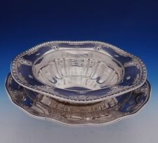 Rose Point by Wallace Sterling Silver Serving Bowl with Underplate (#3091)
