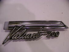 1966 PLYMOUTH VALIANT 200 QUARTER PANEL TRIM EMBLEM LH OEM #2602953