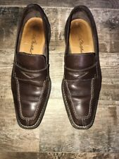 Men's Sutor Mantellassi Penny Loafers Slip On Brown Shoes Size 12