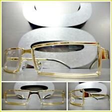 Men's Contemporary Modern Classy Elegant Style Clear Lens EYE GLASSES Gold Frame