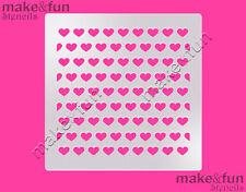 Small Hearts Pattern Cake Stencil, Cookie Stencil, Pochoir, Schablone