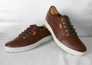 Men's Ecco Brown Leather Casual Sport Fashion Oxfords Size 11 E 45
