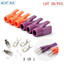20pcs/lot RJ45 Network Connectors Cat7 Shield FTP 1.45mm 8P8C Plugs Cable Boots