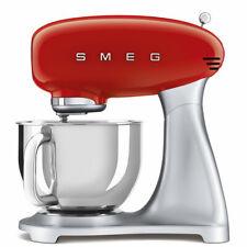 SMEG Küchenmaschine SMF02RDEU Rot, Retro Design im Stil der 50er