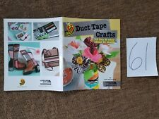 DUCT TAPE CRAFTS 18 projects Leisure Arts Jewelry ring earrings flower bag purse