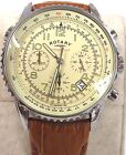 Gents ROTARY Chronospeed Chronograph Leather Strap Wristwatch SPARES REPAIRS D41