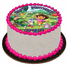 EDIBLE CAKE TOPPER Image Icing Sheet - Dora The Explorer