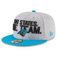 New Era Carolina Panthers 59Fifty 5950 On Stage Draft Hat Cap Size 7 3/8 NEW