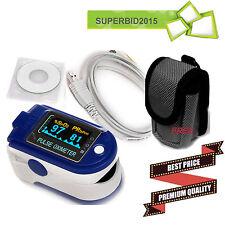 CE OLED Fingertip Pulse oximeter spo2 HEARTBEAT BLOOD Oxygen PC software CMS50D+