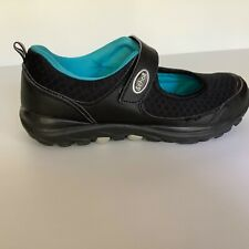 Scholl orthaheel size 37 Gusto Mary Jane comfort shoes black with aqua lining