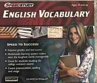 SpeedStudy English Vocabulary Pc Brand New Win10 8 7 XP