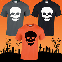 SKULL UNISEX T-SHIRT HALLOWEEN COSTUME SCARY WITCHES TOP FANCY DRESS FUNNY