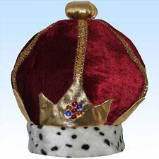 Königskrone ROT Kopfschmuck Diadem Herrscher Krone König