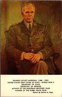 Vintage Postcard General George Catlett Marshall Portrait - Unused